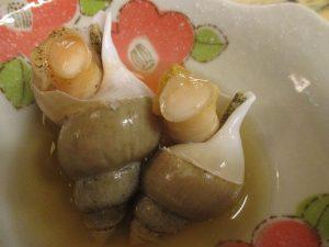 北陸の「白バイ貝」をおでん炊きして~