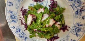 蛸と菊菜のサラダ、菊なますで~